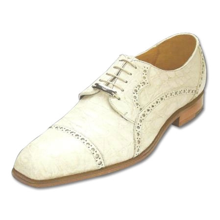 SKU#KW711 Belvedere Lupo Genuine Caiman Belly Shoes Bone $374