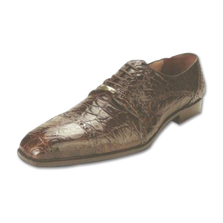 SKU#BR561 Belvedere Lupo Genuine Caiman Belly Shoes Brown $374