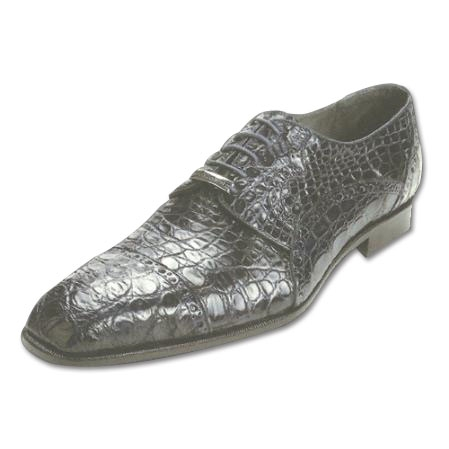 SKU#NA911 Belvedere Lupo Genuine Caiman Belly Shoes Navy $374