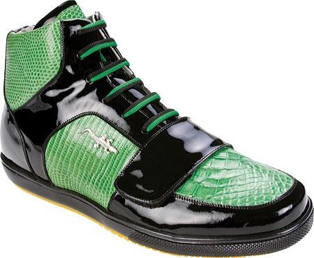 SKU#TF579 Belvedere Magic - Black/Lime Crocodile/Lizard/Patent Leather $252