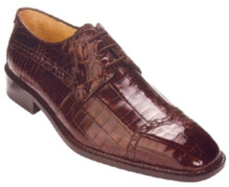 SKU#PR235 Belvedere Mela All-Over Genuine Nile Crocodile Shoes $439