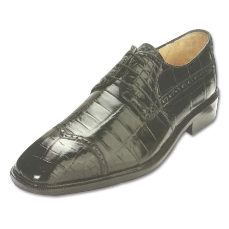 SKU#CK498 Belvedere Mela Nile Crocodile Shoes Black $499