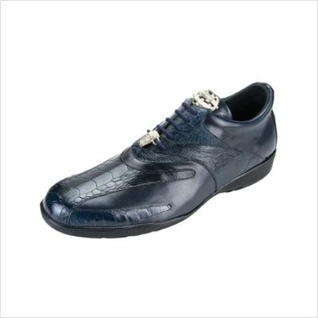 SKU#DM2929 Belvedere Mens Bene Sneakers in Navy