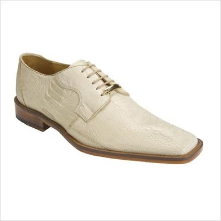 SKU#PK3879 Belvedere Mens Filipo Oxford in Bone $300