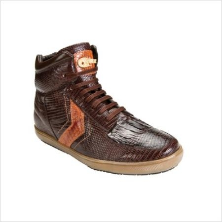 SKU#KD93823 Belvedere Mens Guido Sneaker in Brown / Copper~Rust~Cognac $269