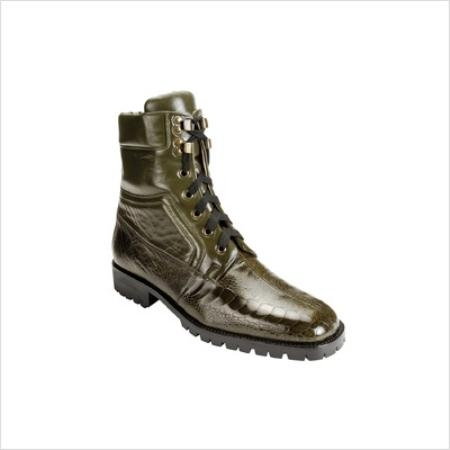 SKU#VX9888 Belvedere Mens Torre Boots in Military $309