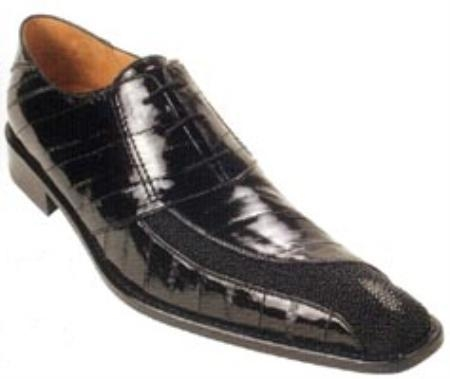 SKU#LA731 Belvedere Napoli Genuine Stingray/Eel Shoes $249
