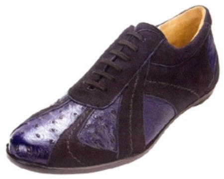 SKU#QL273 Belvedere Pace Genuine Ostrich And Suede Shoes $139