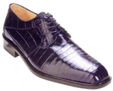 SKU#BV712 Belvedere Panda All-Over Genuine Nile Crocodile Shoes $539