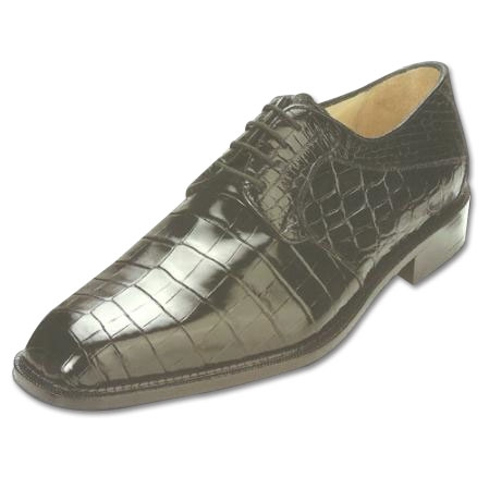 SKU#PB Belvedere Panda Nile Crocodile Shoes Black $499