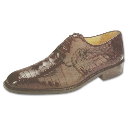 SKU#BW711 Belvedere Panda Nile Crocodile Shoes Brown $499