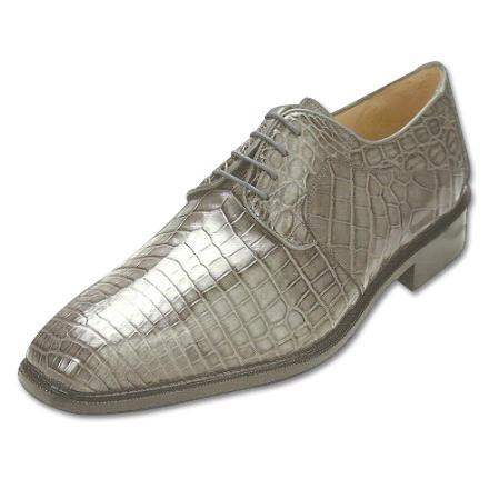 SKU#GY715 Belvedere Panda Nile Crocodile Shoes Grey $479