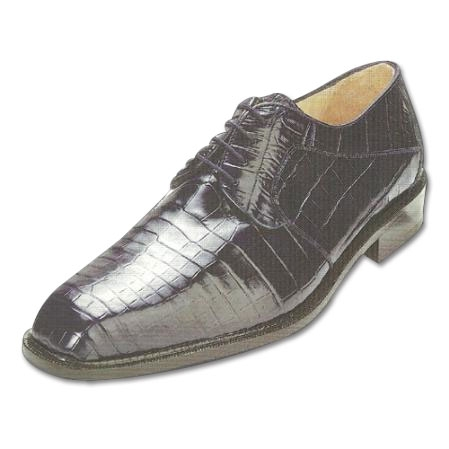 SKU#NV723 Belvedere Panda Nile Crocodile Shoes Navy $479