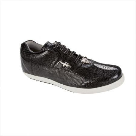 SKU#CX4099 Belvedere Polo II Oxford in Black Sneakers $206