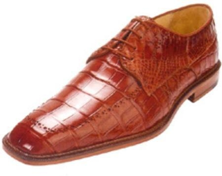 SKU#OE237 Belvedere Roma All-Over Genuine Nile Crocodile Shoes $539