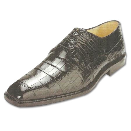 SKU#BL333 Belvedere Roma Nile Crocodile Shoes Black $499