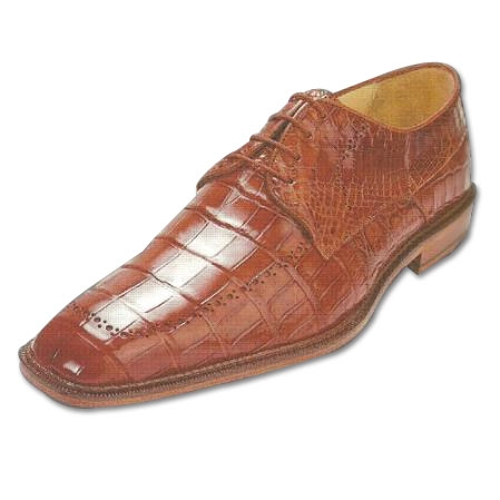 SKU#BY214 Belvedere Roma Nile Crocodile Shoes Brandy $499