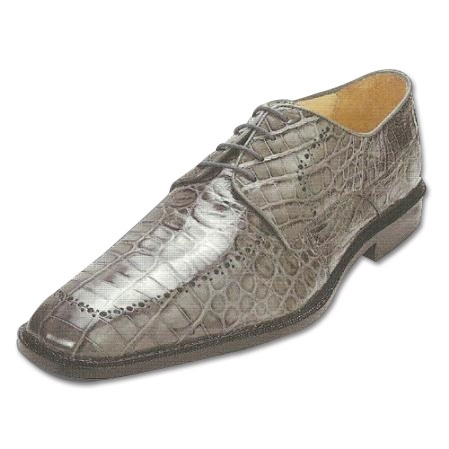 SKU#GR713 Belvedere Roma Nile Crocodile Shoes Grey $499