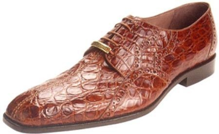 SKU#NL711 Belvedere Stella All-Over Genuine Crocodile Belly Shoes $439