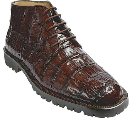 SKU#DM237 Belvedere Ugo - Brown Crocodile