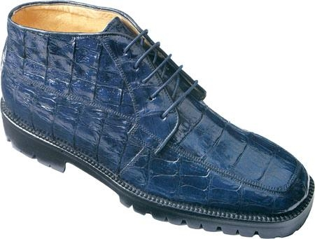SKU#WM483 Belvedere Ugo - Navy Crocodile