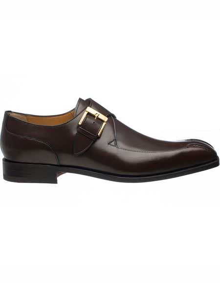 Gold Tone Monk Strap Shoes Tmoro