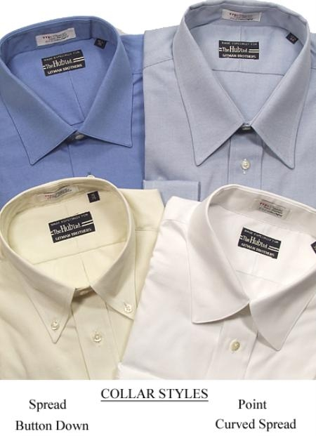 Gitman Big & Tall Pinpoint Oxford 3 Collar Styles $84
