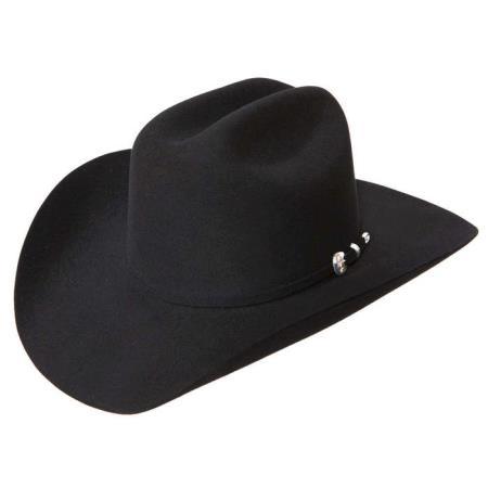 Stetson Hats-10x Tejana Shasta Beaver Fur Felt Western Cowboy Hat Black