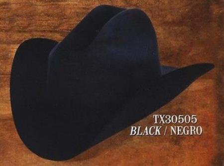 SKU PN-E51 Tejana Cowboy Western Hat 4X Felt Hats Black c8d54e663c6