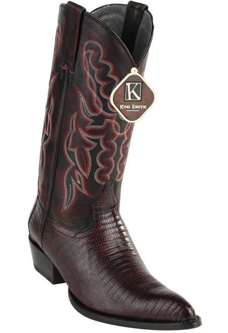 Black Cherry Men's Western King Exotic Cowboy Style By los altos botas For Sale Teju Lizard J Toe Style Cowboy Dress Cowboy Boot Cheap Priced For Sale Online