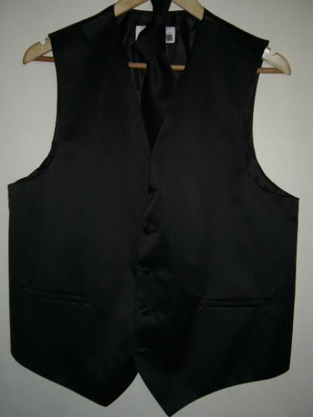 BLACK DRESS TUXEDO WEDDING Vest ~ Waistcoat ~ Waist coat