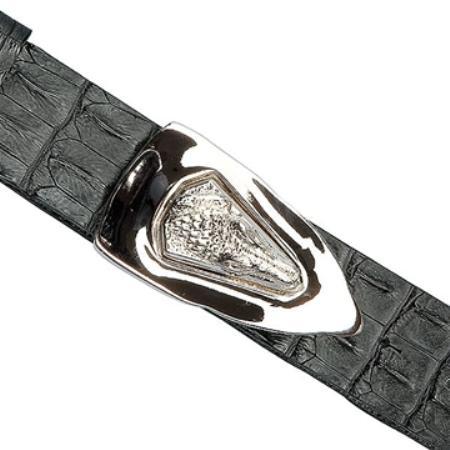 Black Genuine Crocodile ~ World Best Alligator ~ Gator Skin Backstrap Belt