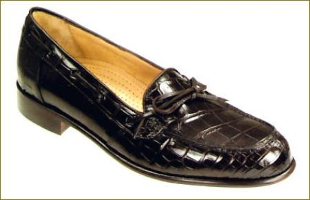 SKU# FMH998 Black Doral-302 Genunine Crocodile Antique 302-Black  Black  (Doral-302-26)  come in Super