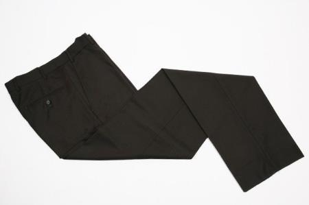 Flat-Front Dress Pants Black