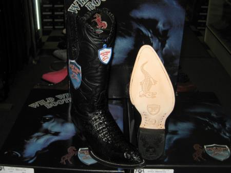 Wild West Black Genuine Crocodile ~ World Best Alligator ~ Gator Skin Western Cowboy Dress Cowboy Boot Cheap Priced For Sale Online (D)