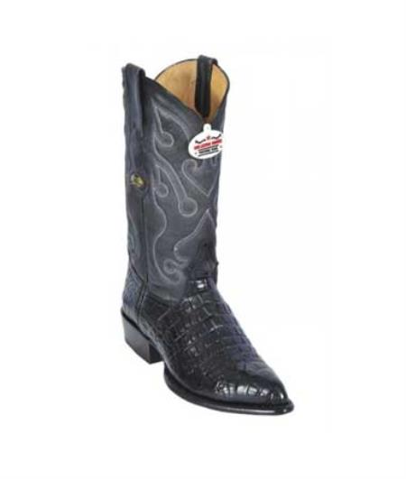 Los Altos Black All-Over World Best Alligator ~ Gator Skin Belly J - Toe Print Cowboy Boots