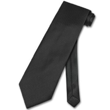 Black Horizontal Mens Neck Tie