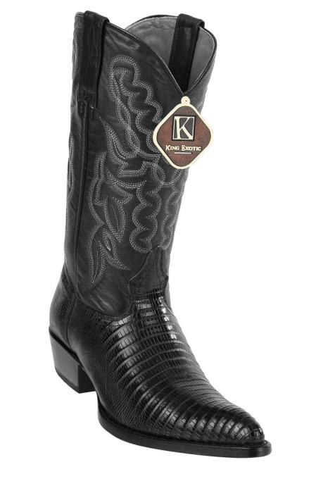 Mens Western Black J Toe Style King Exotic Cowboy Style By los altos botas For Sale Teju Lizard Cowboy Boots