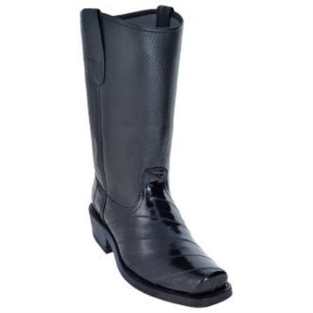 Eel Biker Boots With