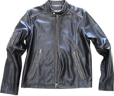 Leather Moto Jacket Distressed
