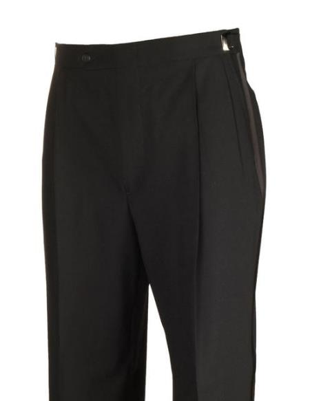 Legacy Fit Black Manufacturers Tuxedo Dress Pants unhemmed unfinished bottom