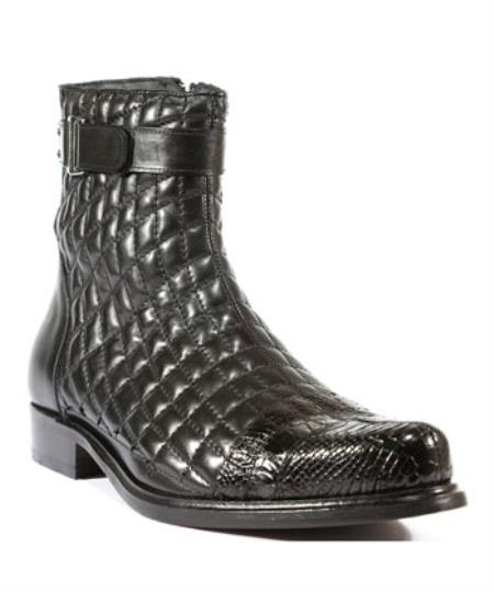 Mens Belvedere Shoes Libero Black Boots