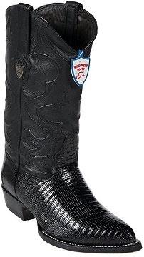 Wild West Black Teju Lizard Cowboy Boots
