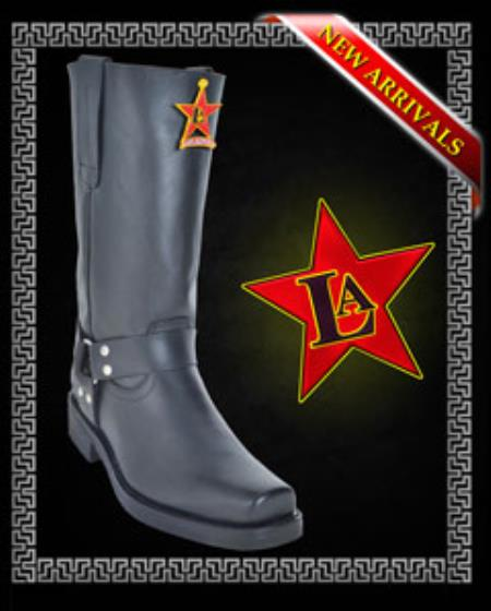Motorcycle Style Boots Cowhide
