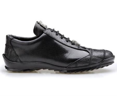 Paulo Authentic Belvedere Exotic Skin Brand Genuine Black Ostrich and Soft Calf Leather Lining Shoe