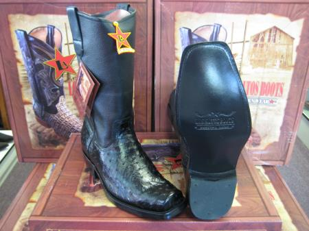 Altos Black Genuine Ostrich