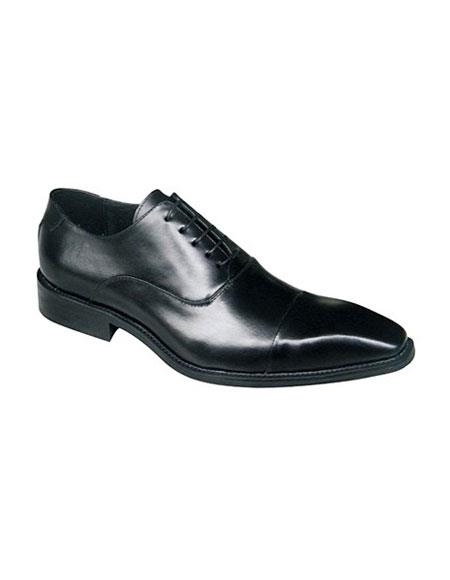 SKU#AP303 Zota Brand Black Lace Up Classic Oxford Leather Shoe