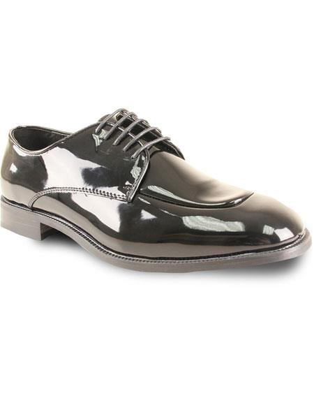 Mens Oxford Formal Tuxedo Black Patent for Prom & Wedding Lace Up Dress Mens Tuxedo Dress Shoe For Men Perfect for Wedding