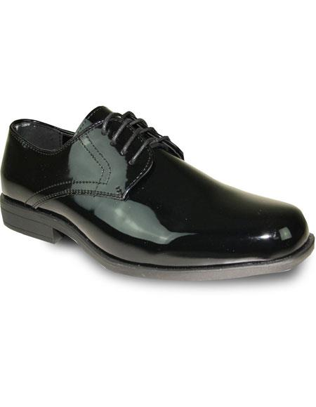 Mens Tuxedo Black Patent Oxford Formal for Prom & Wedding Lace Up Dress Mens Shoes Perfect for Prom and Wedding