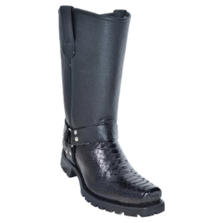 Python Biker Boots With